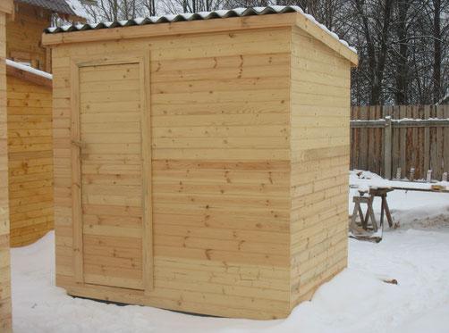 Хоз. блок деревянный