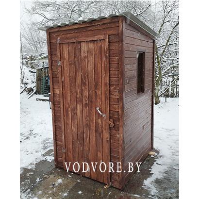 Туалет для дачи с окошками
