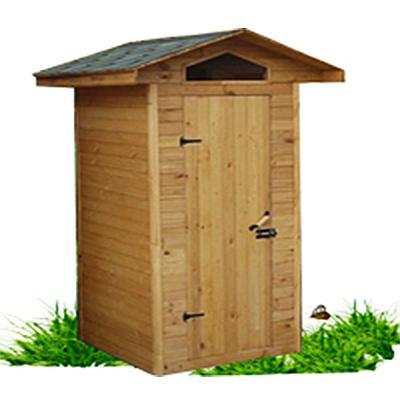туалет из дерева садовый