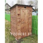 Дачный туалет блок-хаус