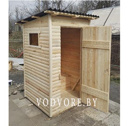 Дачный туалет из блок-хаус