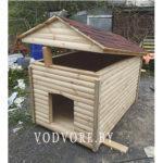 Будка из блок-хаус для больших собак
