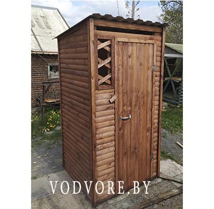 Туалет для дачи с обрешёткой